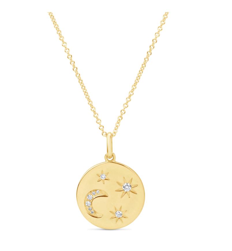Diamond Moon & Stars Necklace