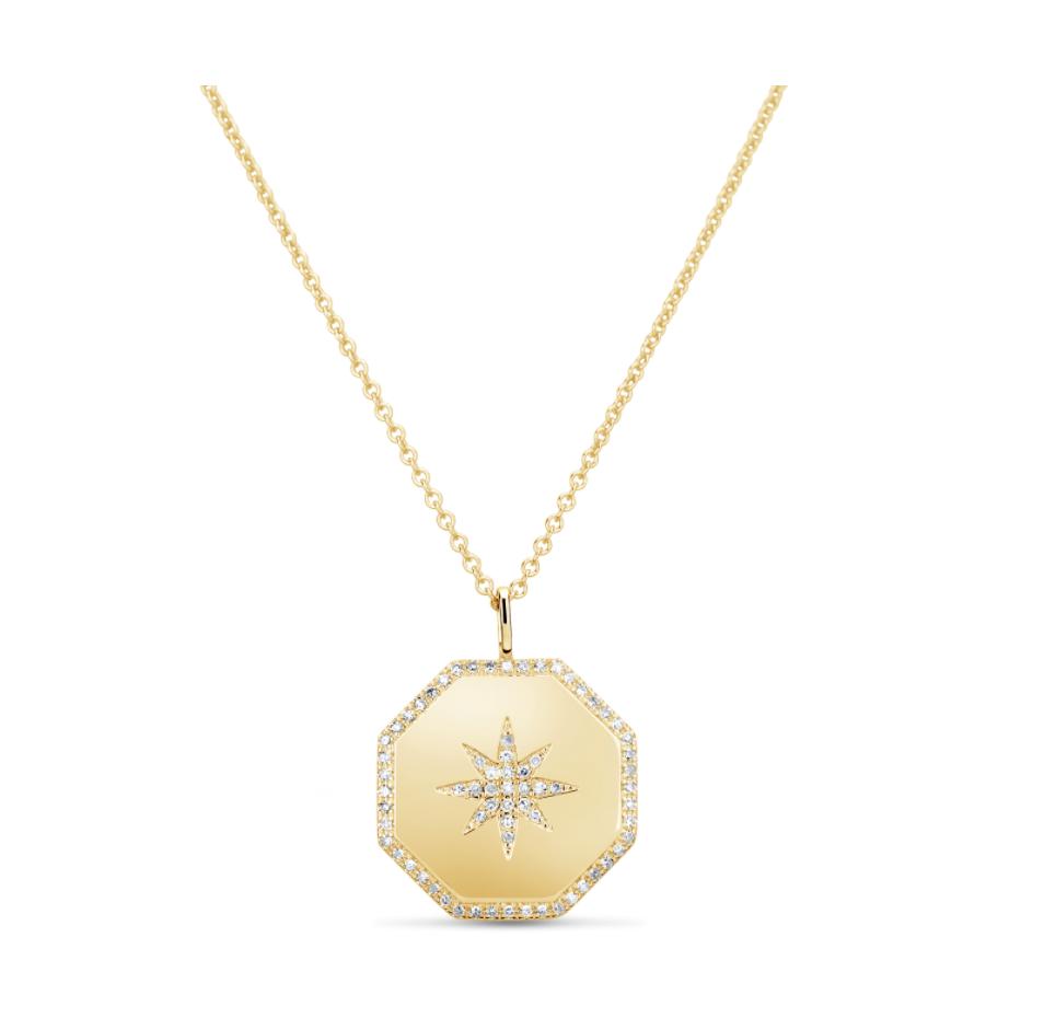 Diamond Star Hexagon Necklace