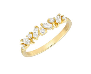 Marquise & Round Dia Souli Gold Band LN113