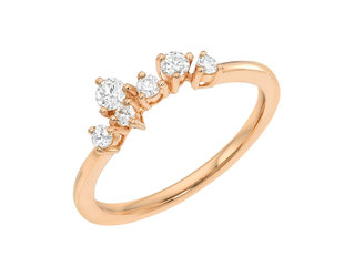 Dia Constellation Cluster Rose Gold Ring LN114