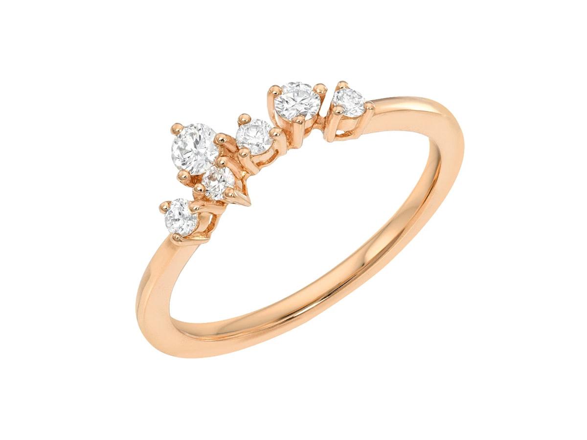 Diamond Constellation Cluster Rose Gold Ring