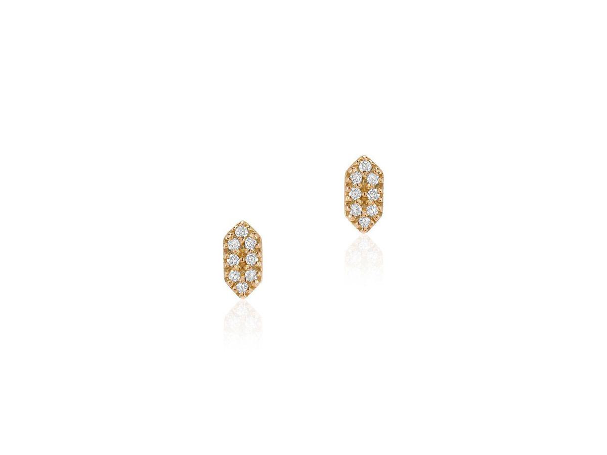Petite Diamond Capsule Gold Studs