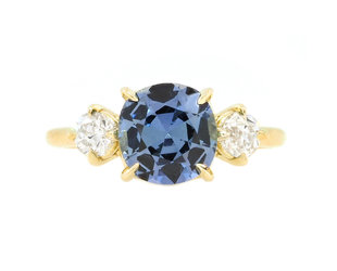 Trabert Goldsmiths 2.45ct Sapphire and Diamond Trinity Ring E2225