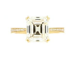Erika Winters 3.21ct LVVS2 Antique Emerald Dia Willa Ring EW26
