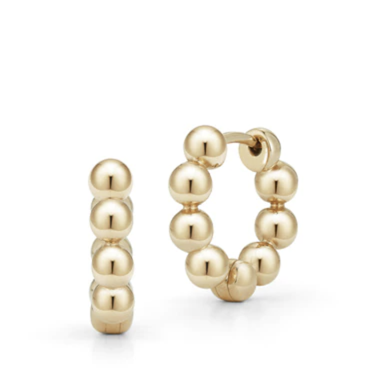 Dana Rebecca Poppy Rae Pebble Yellow Gold Hoops