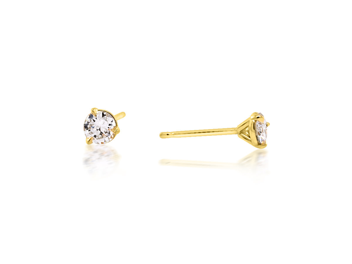 Trabert Goldsmiths 0.54cts Diamond Stud Earrings