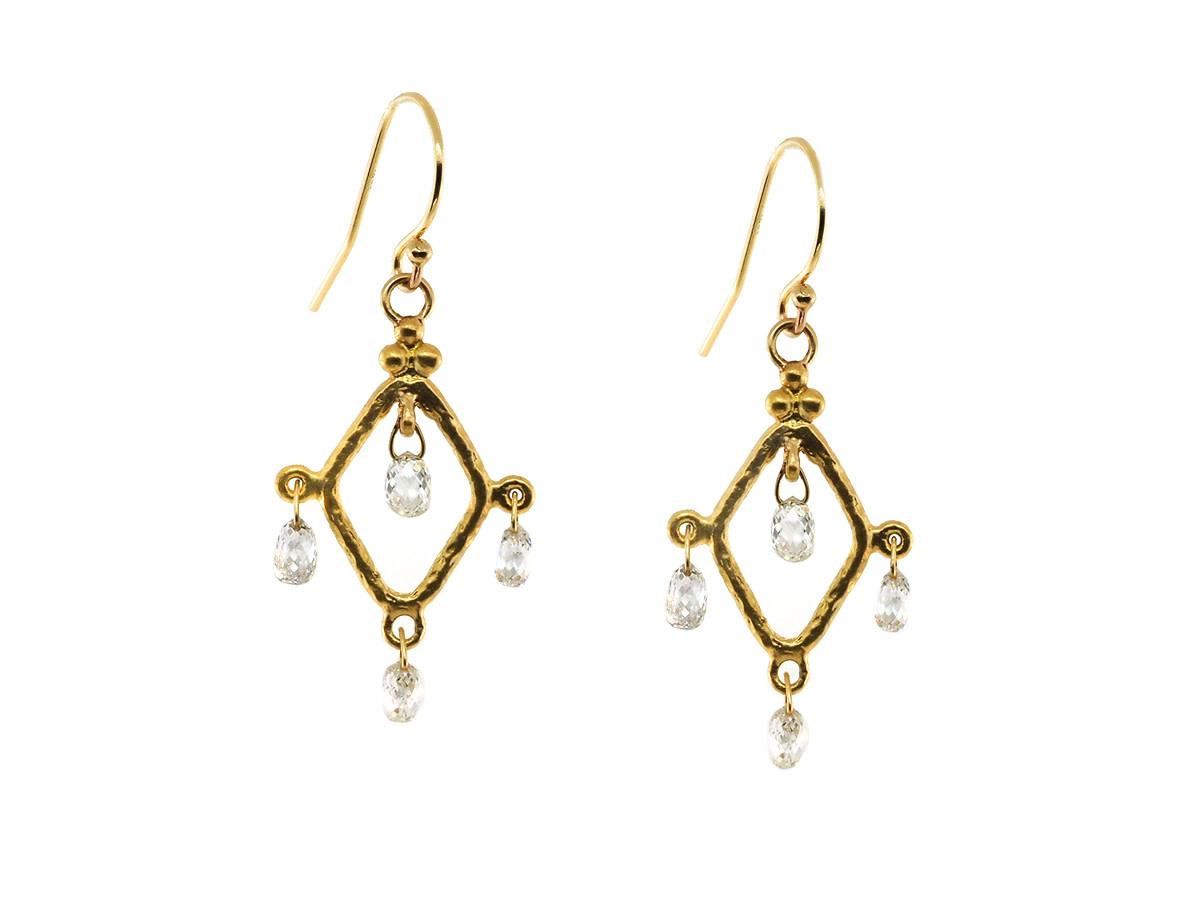 Trabert Goldsmiths Diamond Chandelier Earrings