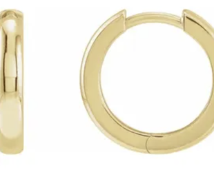 Trabert Goldsmiths Yellow Gold Hinged Hoop Earrings E2262