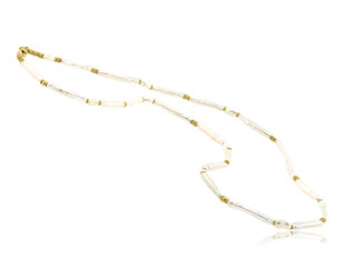 Trabert Goldsmiths Freshwater Pearl Bar Necklace E2151