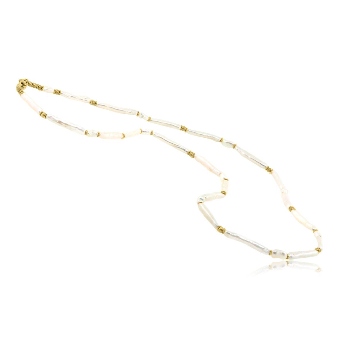 Trabert Goldsmiths Freshwater Pearl Bar Necklace