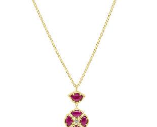 Ruby Lotus Pendant E2152
