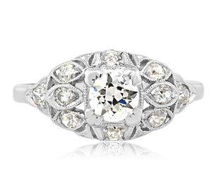 Trabert Goldsmiths Antique Edwardian Diamond Ring E2163
