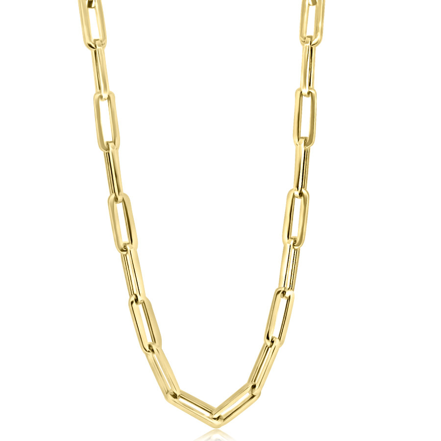 Large Gold Oval Link Necklace