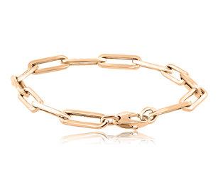 Trabert Goldsmiths Large Oval Link Rose Gold Bracelet E2187