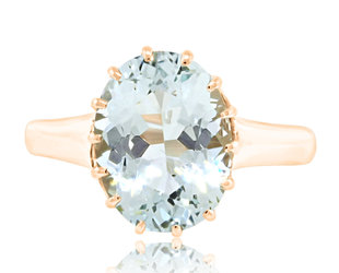3.26ct Green Aquamarine Ring E2197