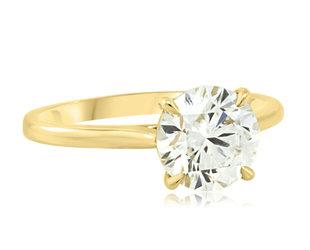 Trabert Goldsmiths 1.69ct GSI1 Round Brilliant Diamond Aura E2203