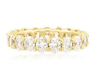 Trabert Goldsmiths 3.80ct G/H VS-SI Oval Diamond Eternity Ring E2221