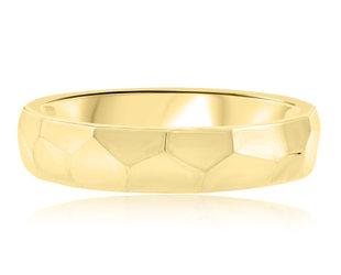 Trabert Goldsmiths Art Deco Yellow Gold Wedding Band E2245