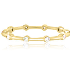 Trabert Goldsmiths Cassiopeia Spaced Yellow Gold Ring