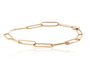 Trabert Goldsmiths Rose Gold Paperclip Chain Bracelet E2251