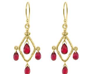 Trabert Goldsmiths Ruby Chandelier Earrings E2254