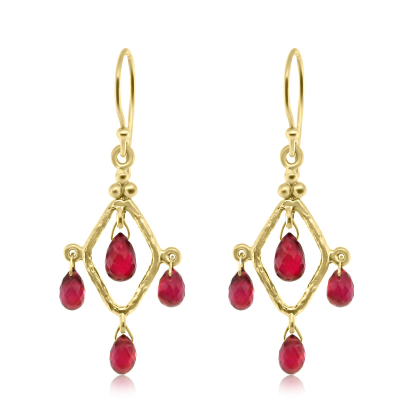 Trabert Goldsmiths Ruby Chandelier Earrings