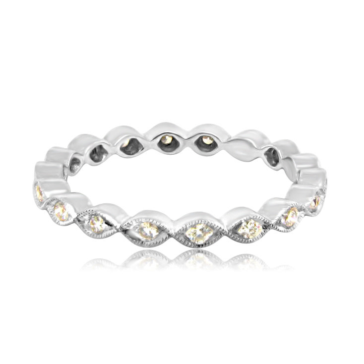 Beverley K Collection Marquise Eternity Band with Diamonds