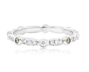 Trabert Goldsmiths White and Champagne Dia Eternity Band AB362