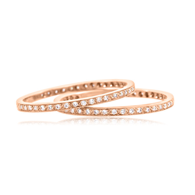 Beverley K Collection White Diamond and Rose Gold Eternity
