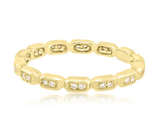 Beverley K Collection Sectioned Diamond Gold Eternity Band AB460