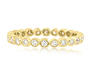 Beverley K Collection Honeycomb and Round Dia  Band AB512