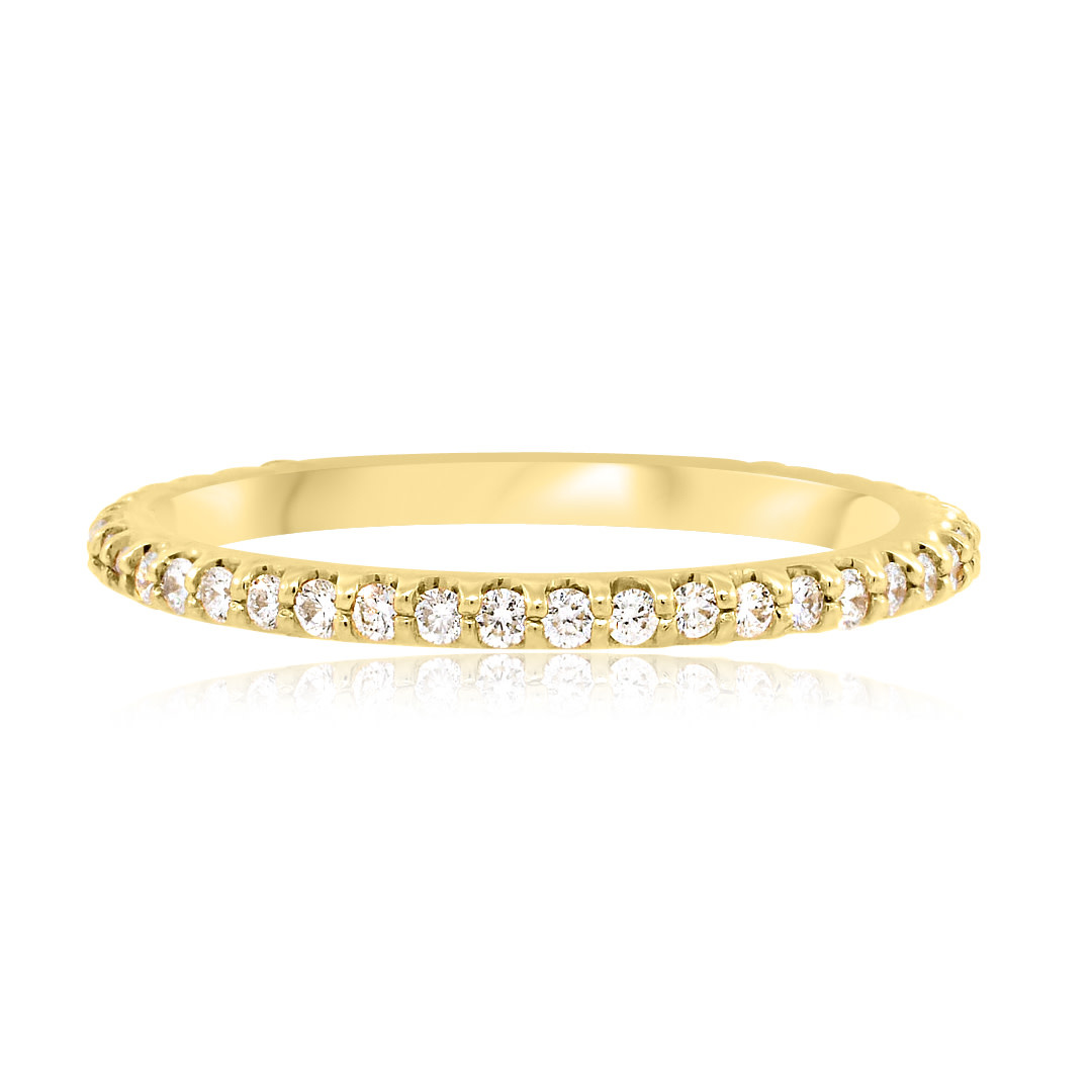 Beverley K Collection Shared Pronged Diamond Eternity Band