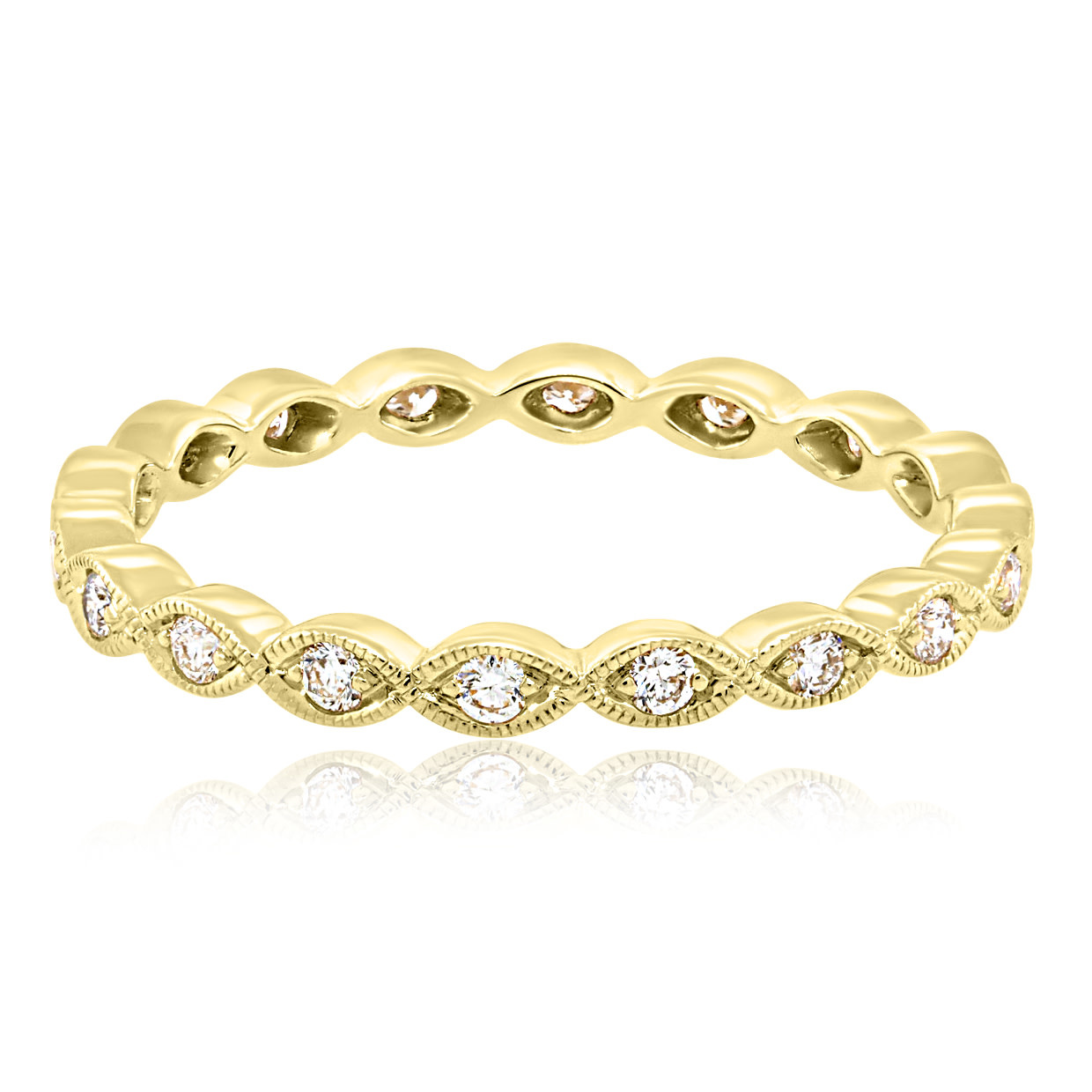 Beverley K Collection Marquise Eternity Band with Diamond