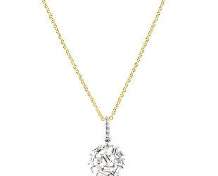 Diamond Baguette Cluster Necklace DL65