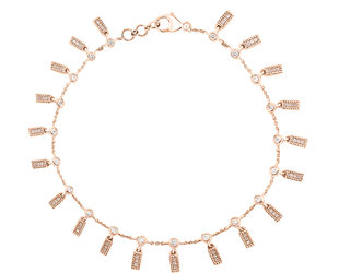 Dana Rebecca Diamond Bar Charm Bracelet DR2
