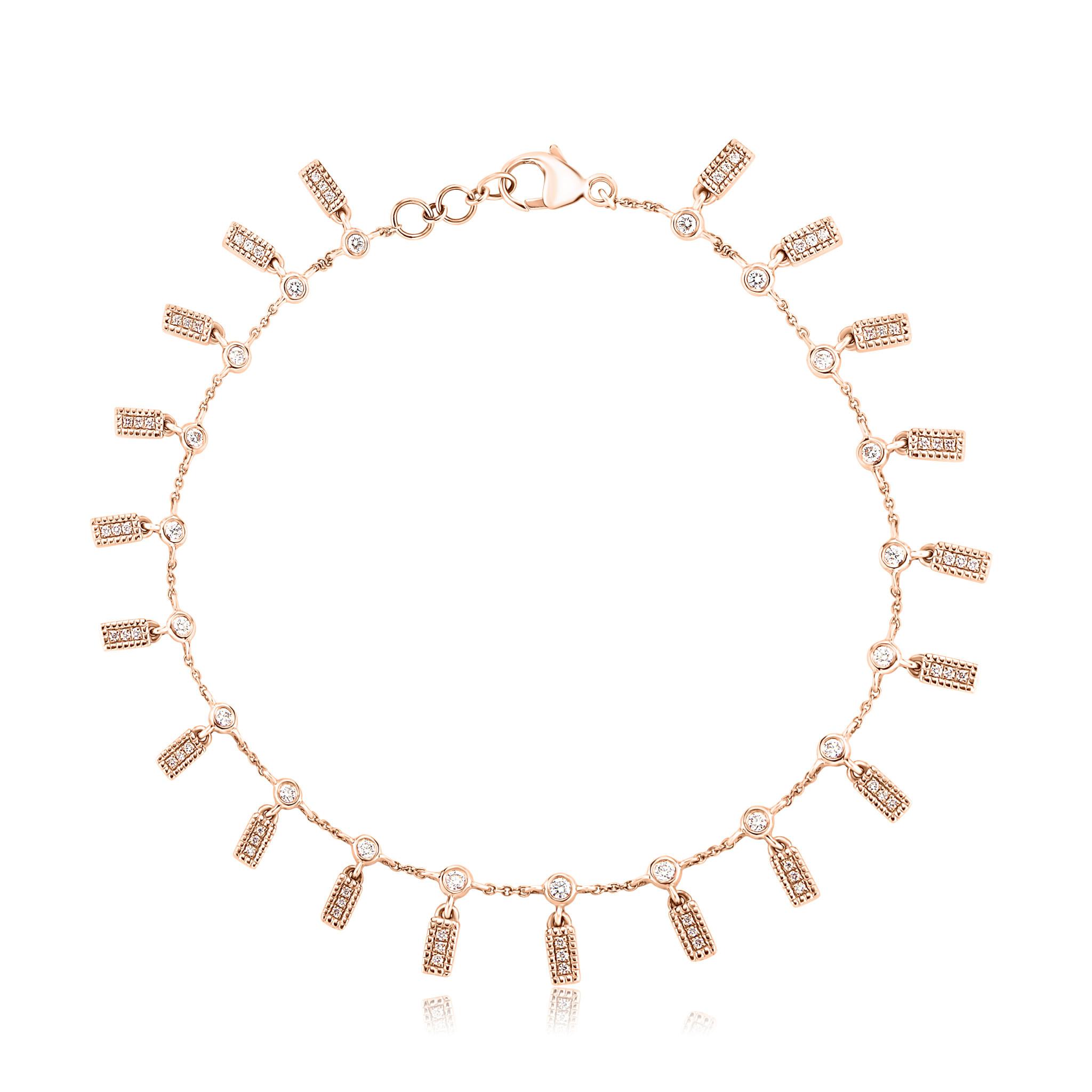 Dana Rebecca Diamond Bar Charm Bracelet