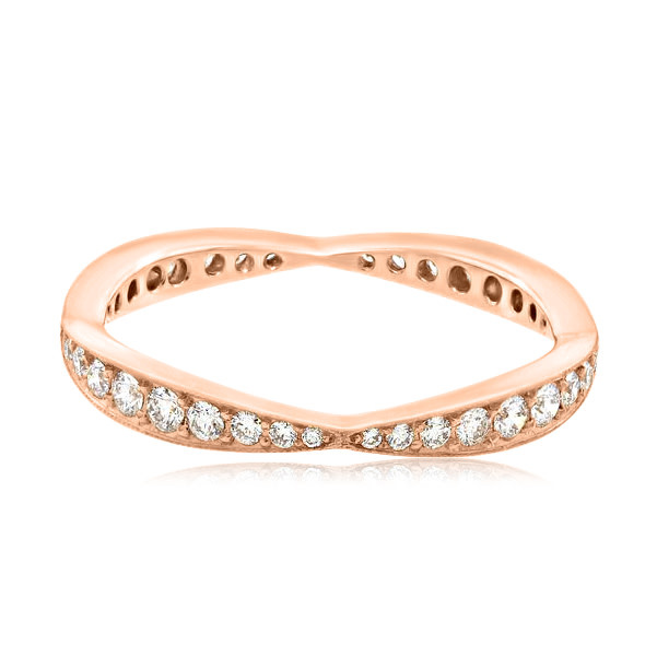 Trabert Goldsmiths Scalloped Pave Dia Eternity Band