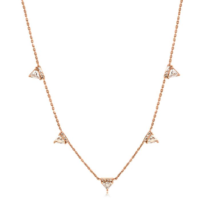 0.87ct Triangle Diamond Necklace