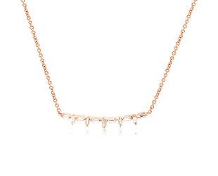 Baguette Diamond Bar Necklace E1923