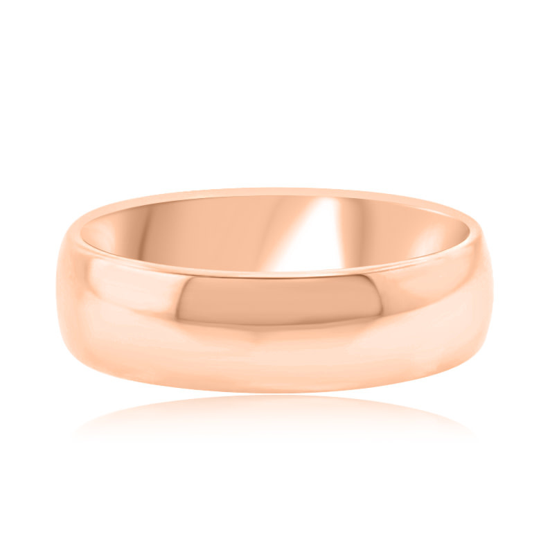 6mm Half Round 14kt Rose Gold Band
