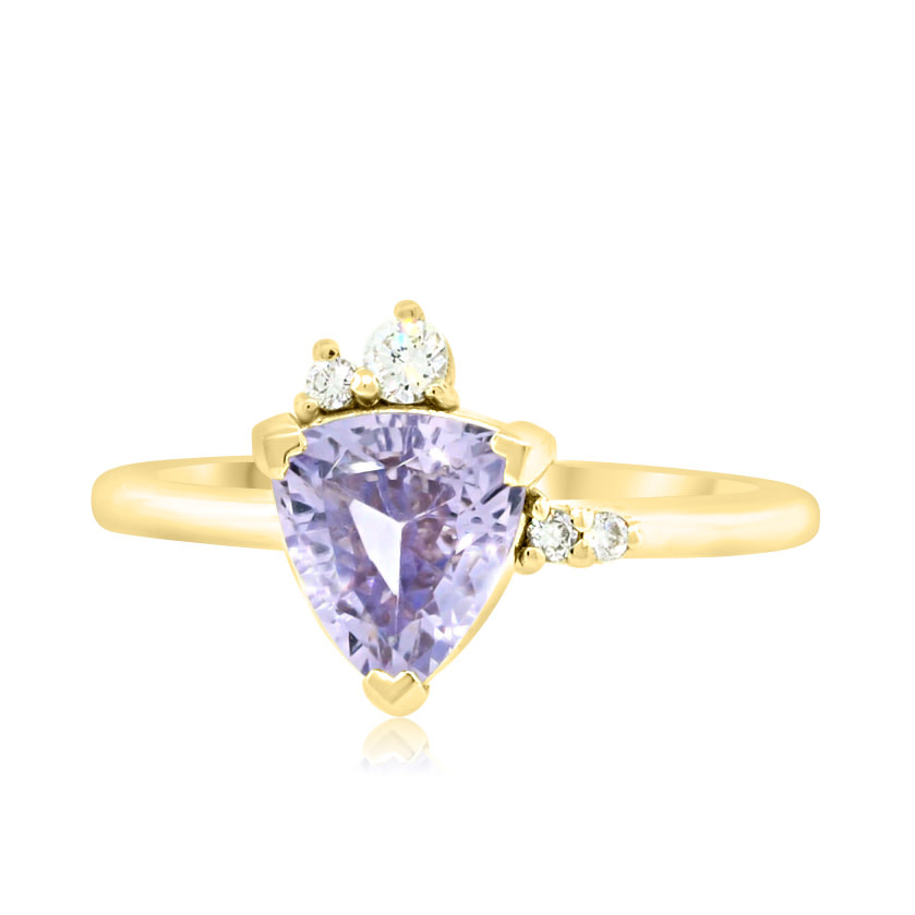 Trabert Goldsmiths 1.49ct Purple Sapphire Wisteria Ring