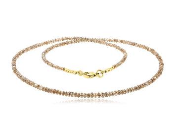 Trabert Goldsmiths 19.60cts Champagne Diamond Beaded Necklace E2102