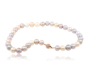 Trabert Goldsmiths Multi Pastel Freshwater Pearl Necklace E2106