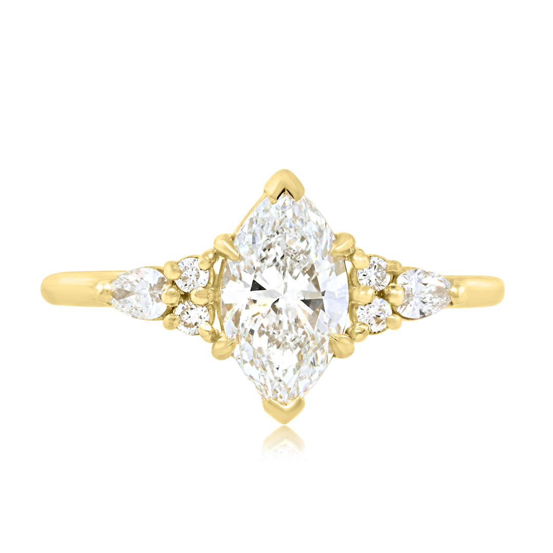Trabert Goldsmiths 1.02ct FVS2 Marquise Diamond Vela Ring