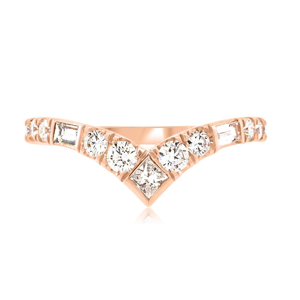 Trabert Goldsmiths Vale Diamond Rose Gold Contour Ring