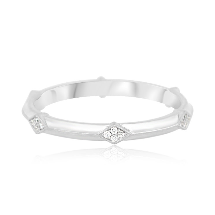 Erika Winters 'Lily' Geometric Diamond Eternity Band