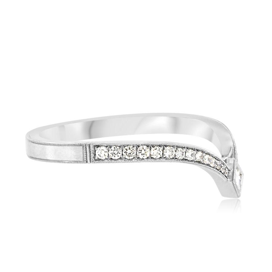 Erika Winters Twyla V Shape Diamond Platinum Band