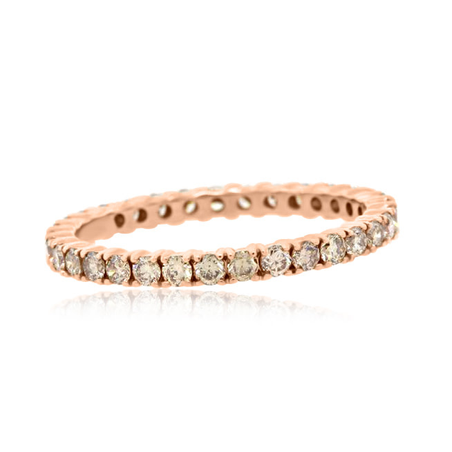 Rose Gold Champagne Diamond Band