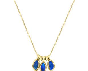 Jamie Joseph Jewelry Designs Triple Asymmetrical Opal Necklace JD161