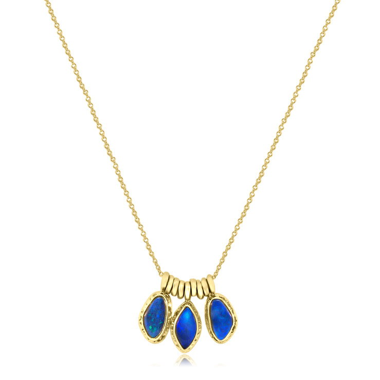 Jamie Joseph Jewelry Designs Triple Asymmetrical Opal Necklace